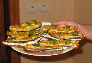 Бутерброди з овочами і домашнім творогом